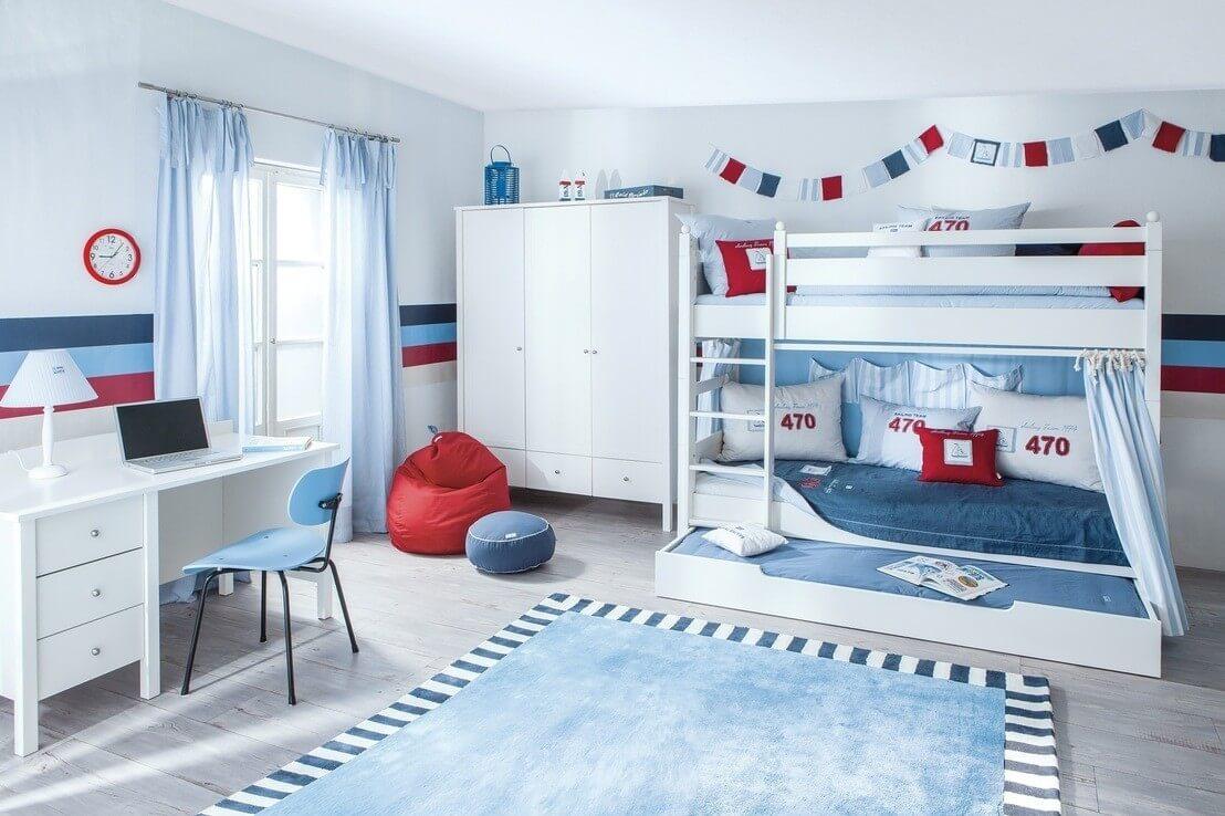 Детская для двоих детей с мебелью трансформером