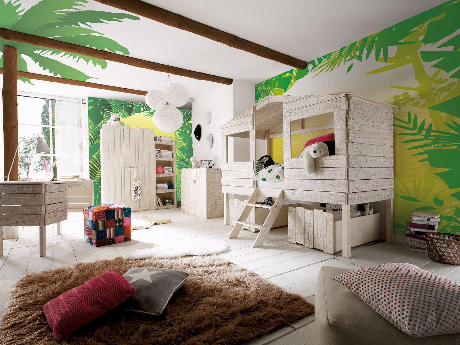 Планировка детской комнаты в тропическом стиле