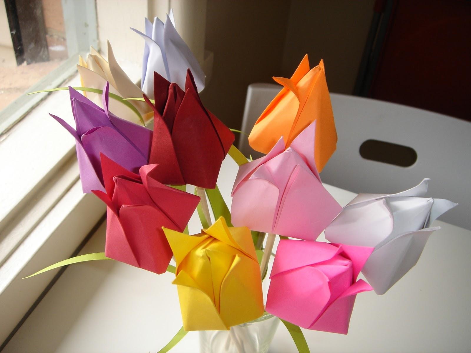 Поделки на 8 марта тюльпаны оригами