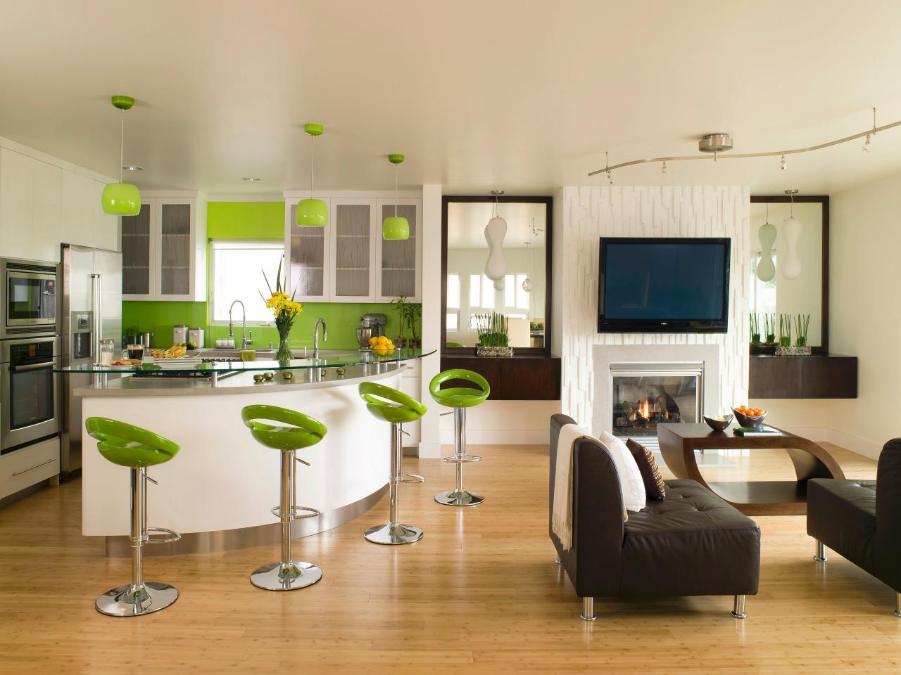 Дизайн кухни гостиной угловой