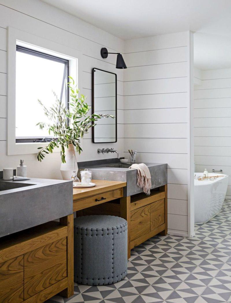 Межкомнатная перегородка в ванной