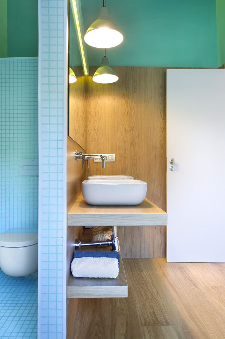 Межкомнатная перегородка в ванной комнате