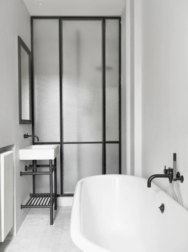 Межкомнатная перегородка в ванной лофт