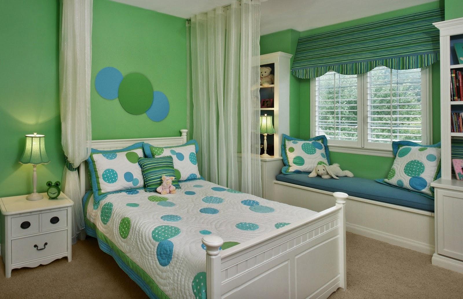 Декор детской комнаты зеленый