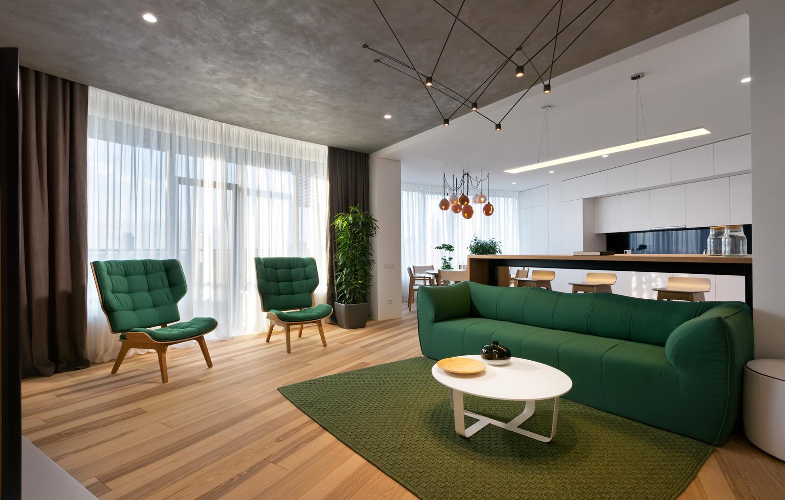 Однокомнатная квартира 40 кв м зеленая