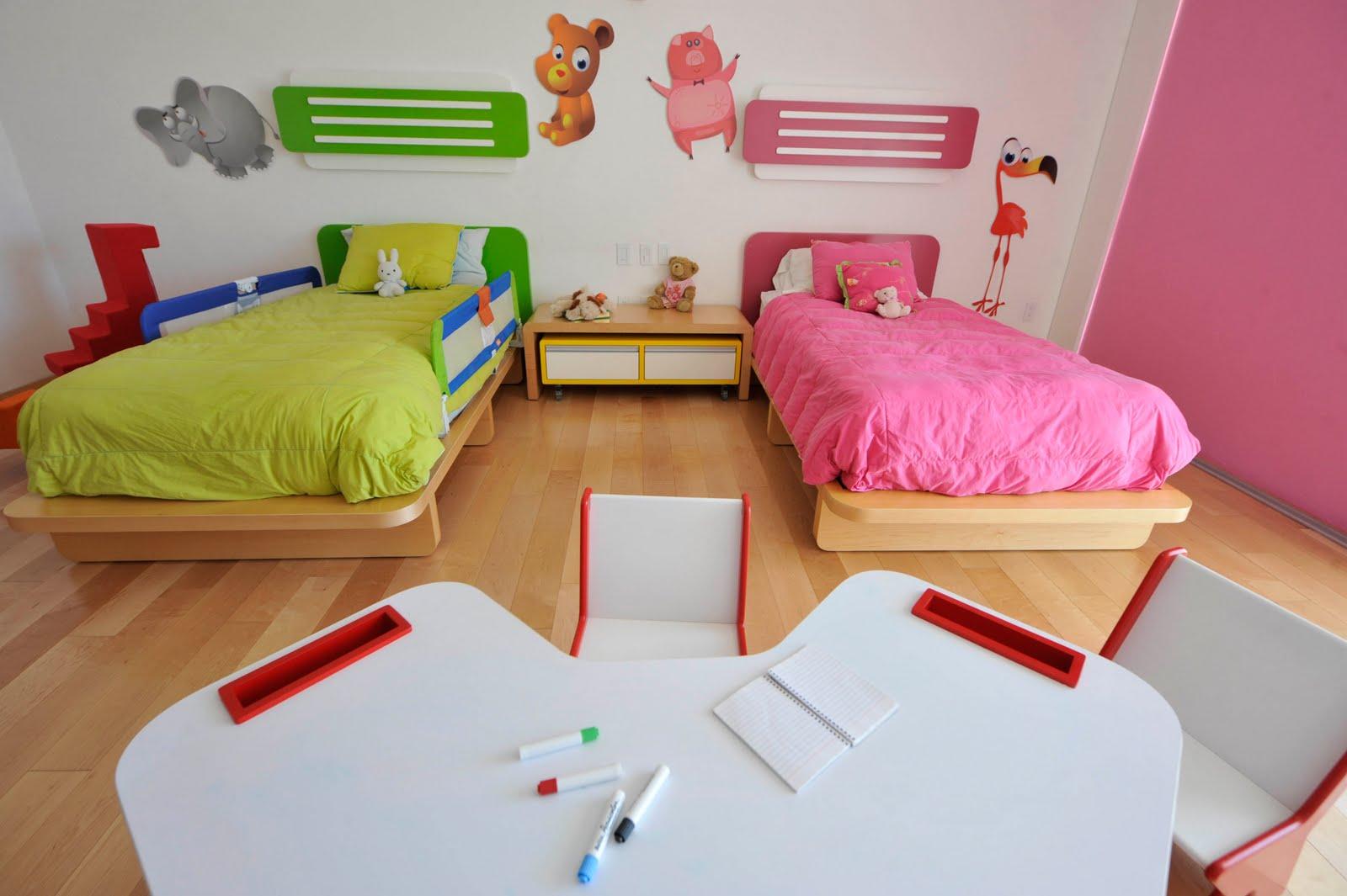 Декор детской комнаты зверями