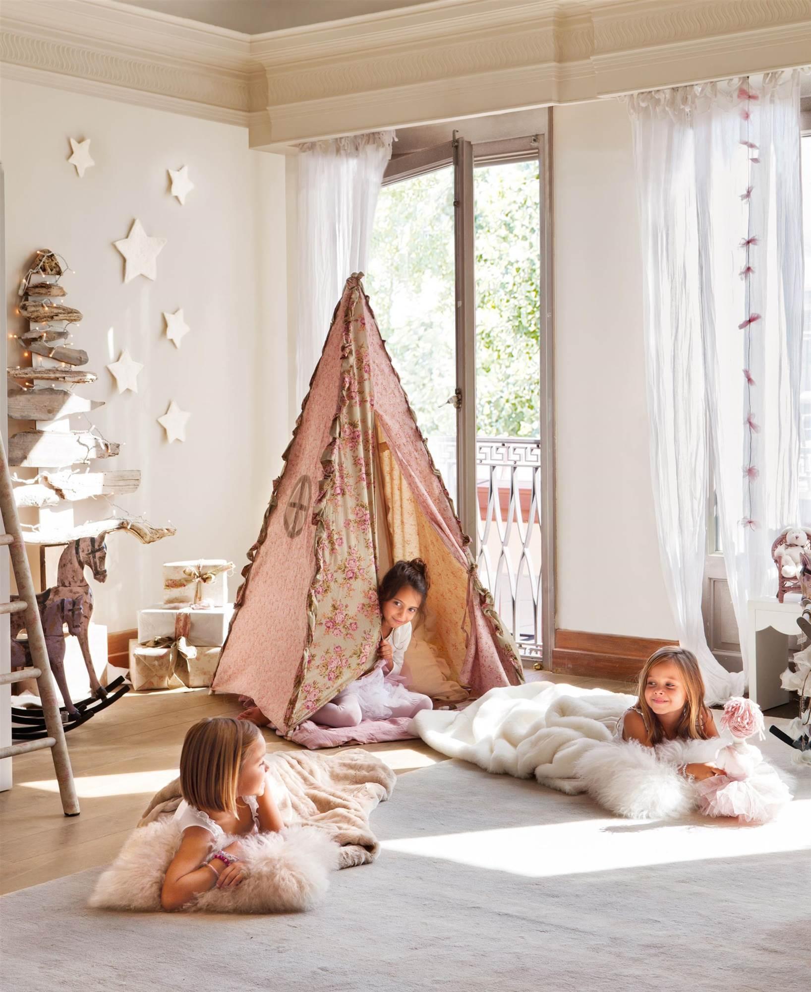 Декор детской комнаты звездами