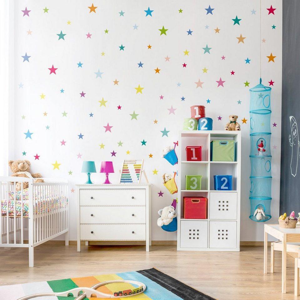 Планировка детской комнаты со звездами
