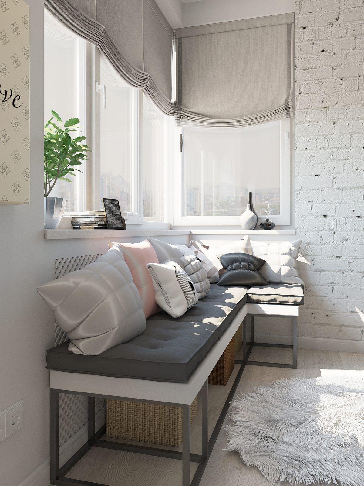 Стили однокомнатных квартир с балконом