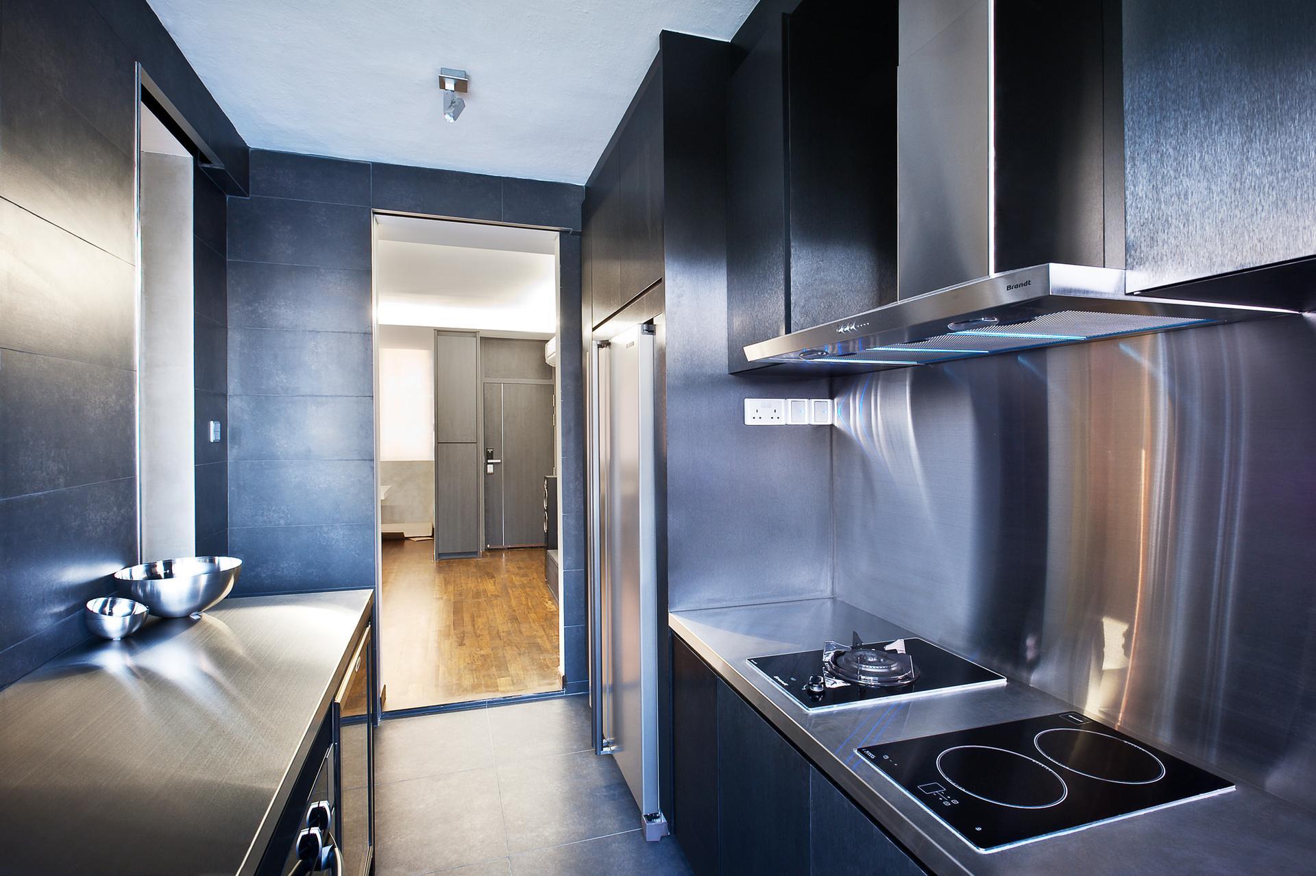 Однокомнатная квартира в стиле хай тек с кухней