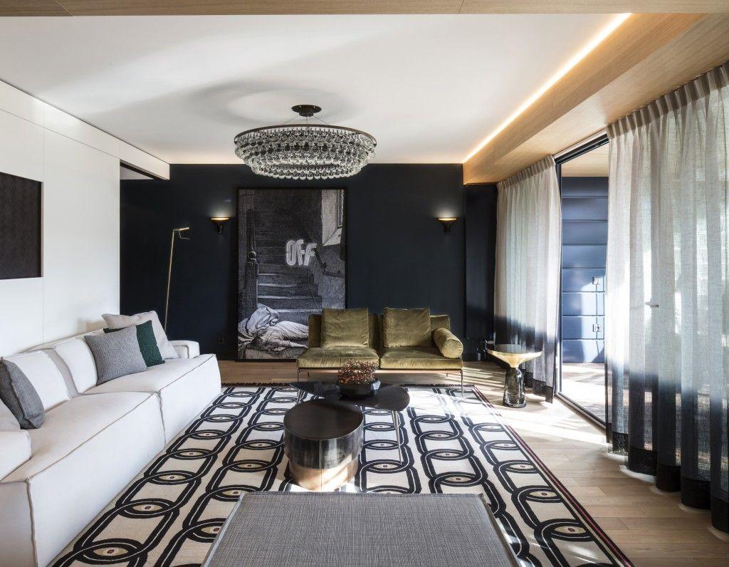Однокомнатная квартира в стиле хай тек интерьер