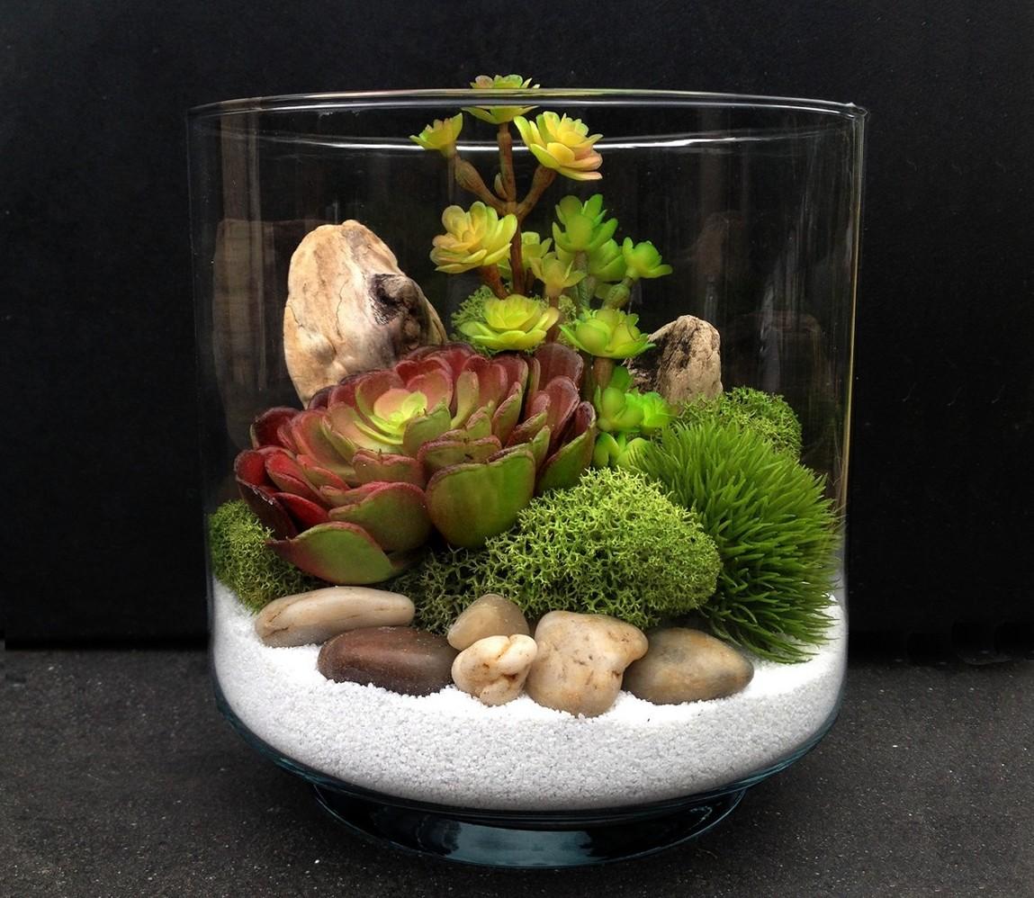 Флорариум с камнями