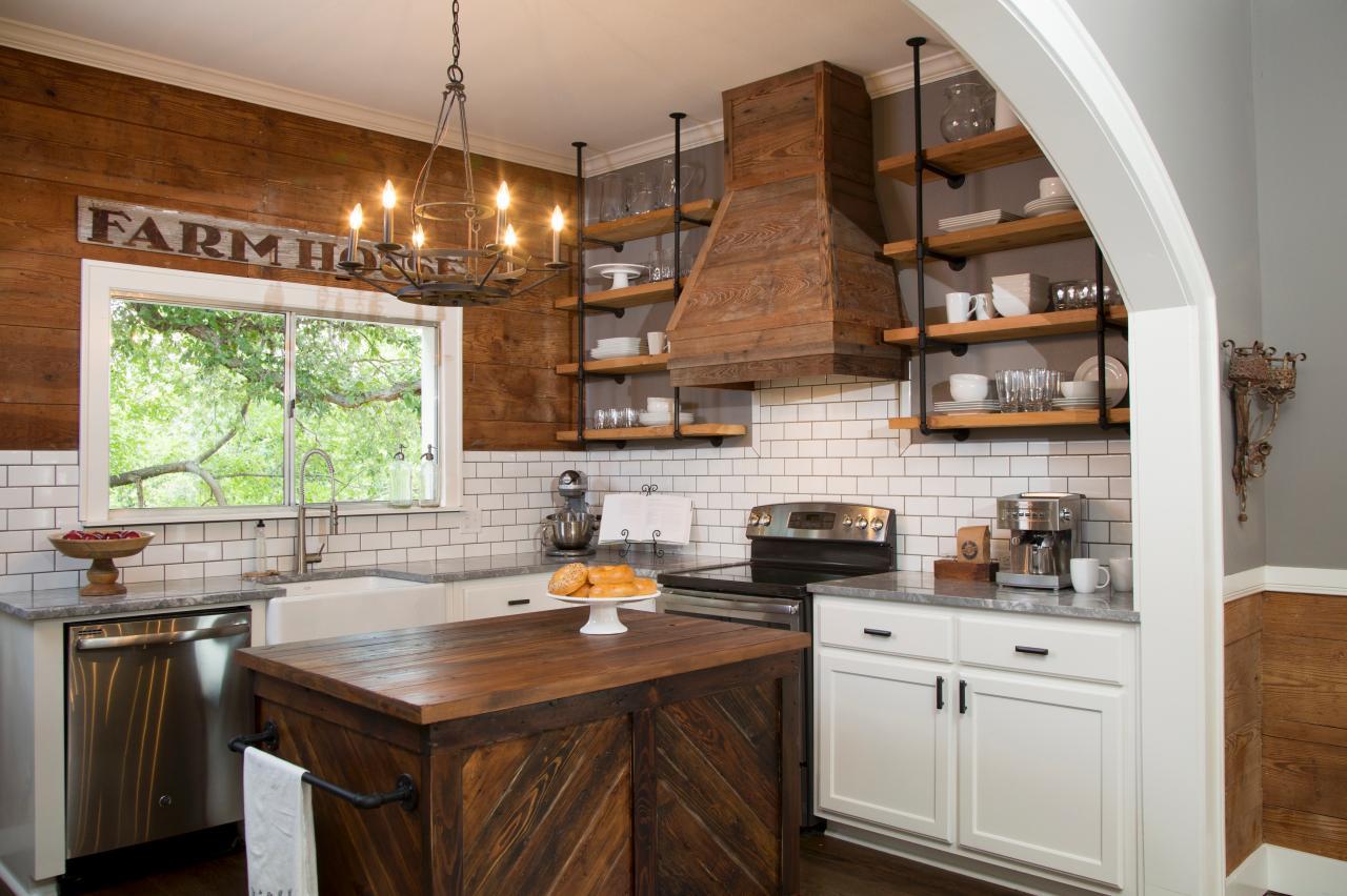 Перепланировка кухни в стиле кантри