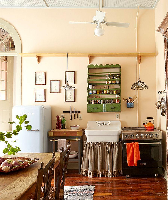 Однокомнатная квартира с кухней в стиле кантри