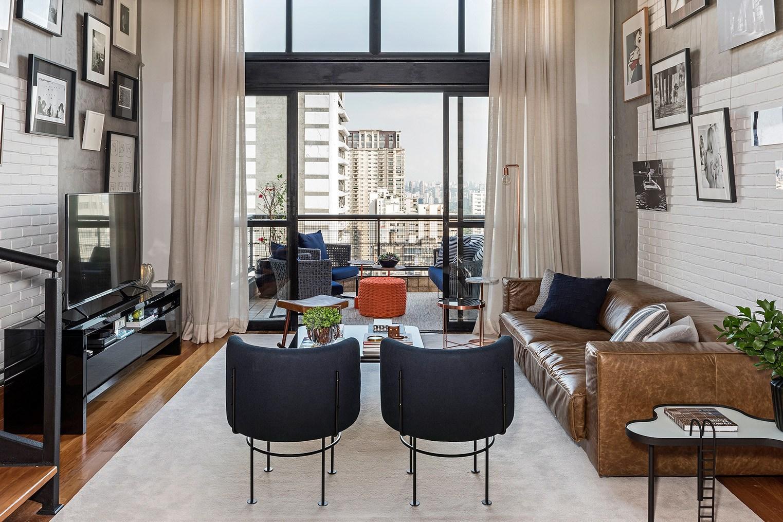 Однокомнатная квартира лофт с балконом