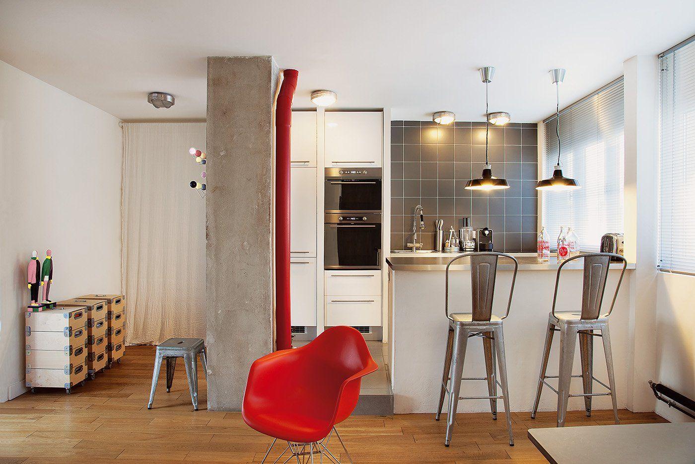 Однокомнатная квартира лофт с кухней
