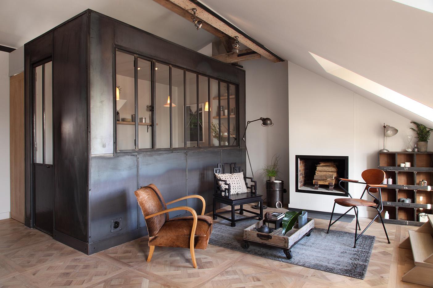 Однокомнатная квартира лофт с мансардой
