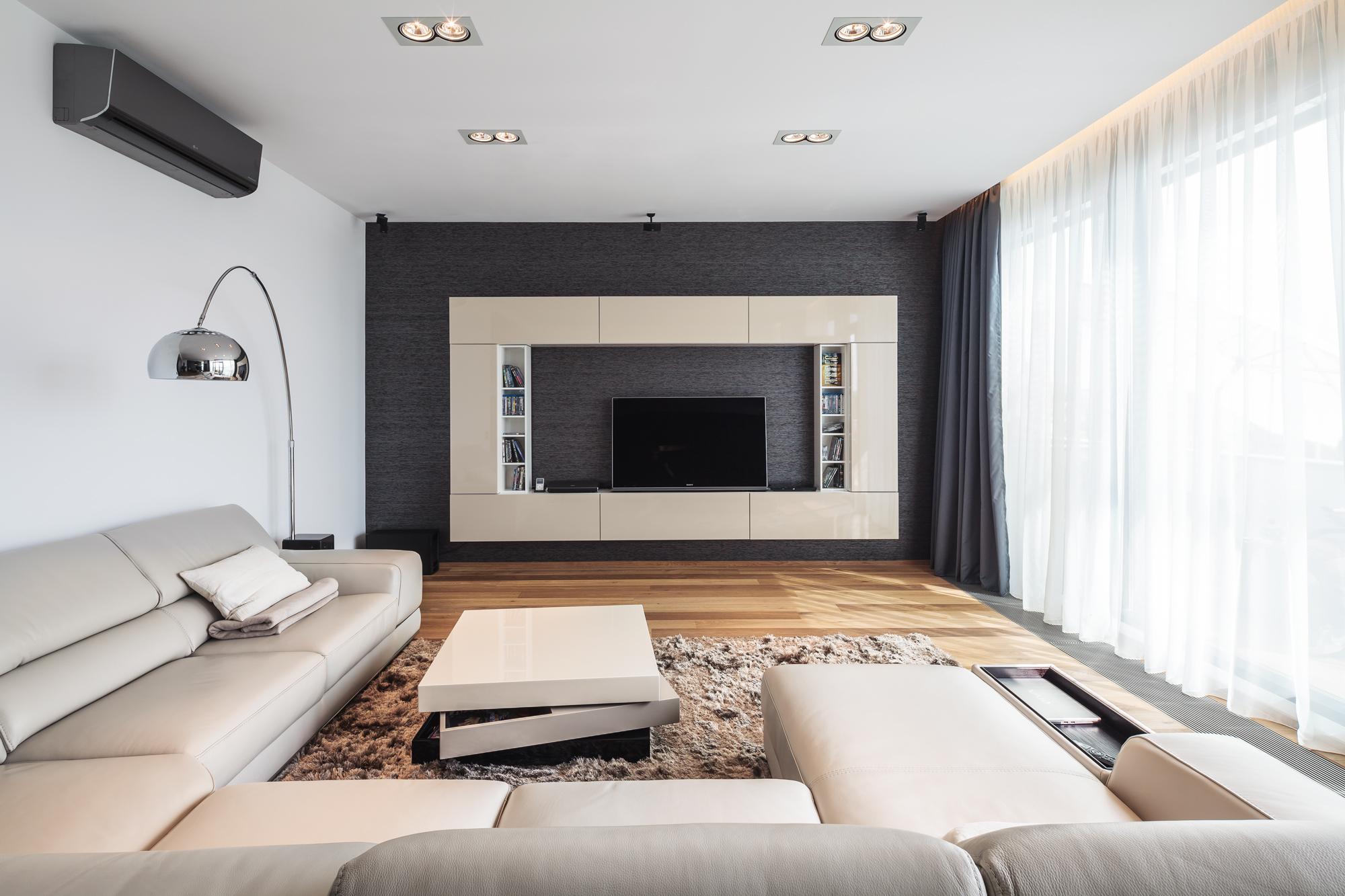 Однокомнатная квартира с гостиной в стиле минимализм