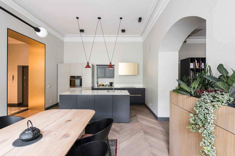 Однокомнатная квартира с кухней в стиле минимализм
