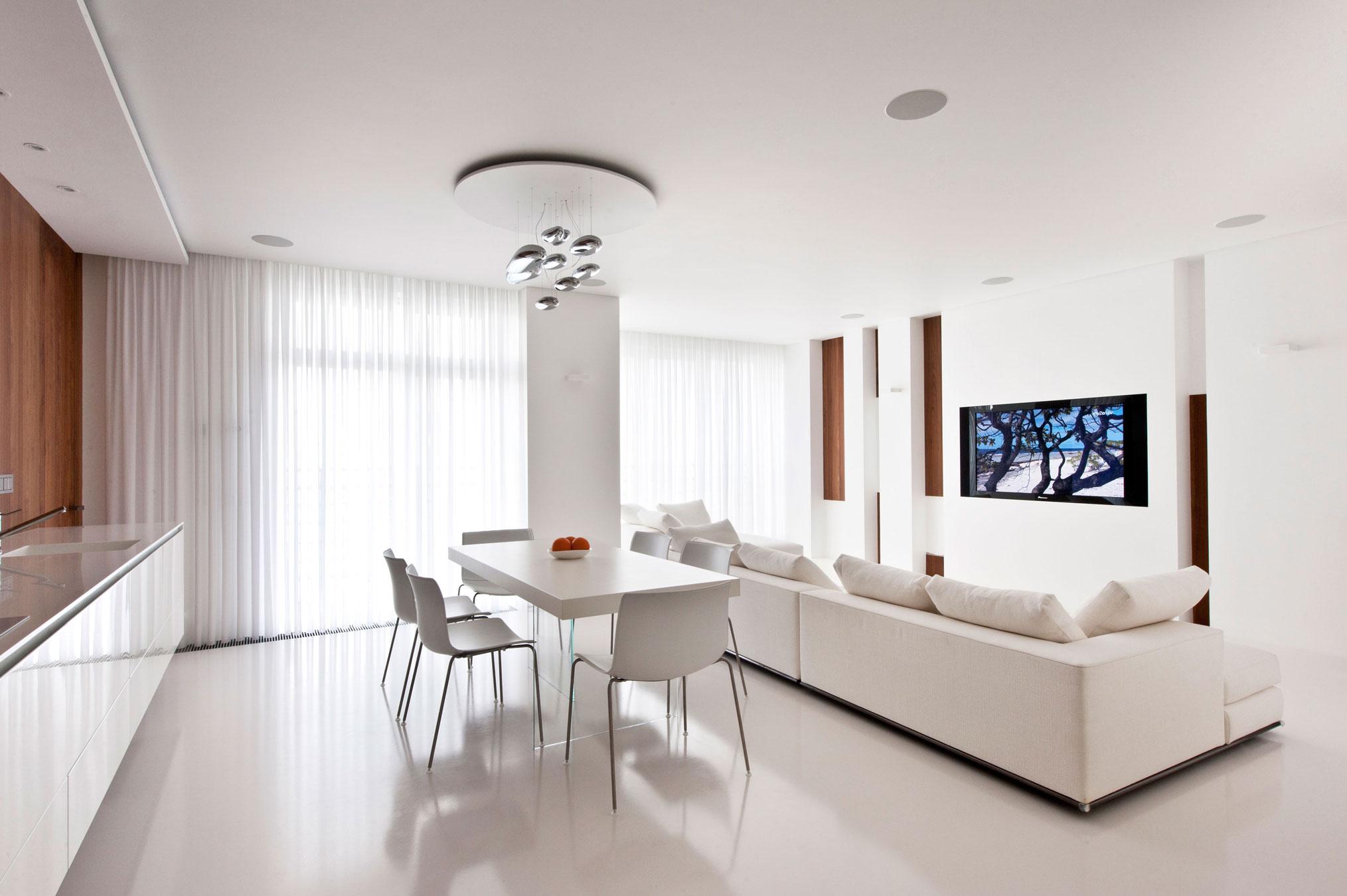 Однокомнатная квартира в стиле минимализм совмещенная