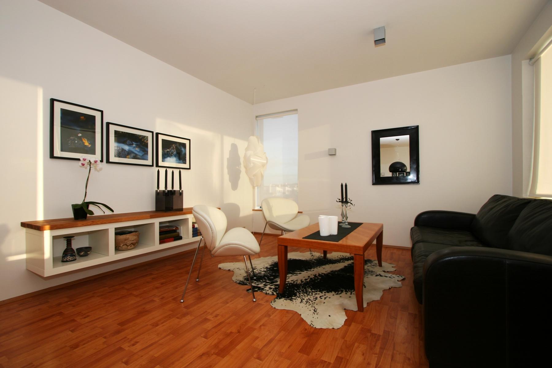 Однокомнатная квартира с интерьером в стиле модерн