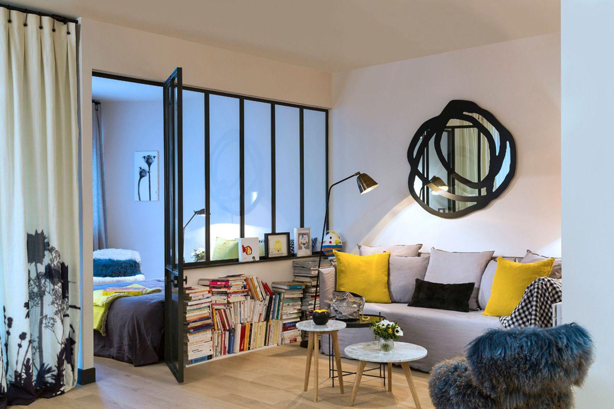 Однокомнатная квартира с перегородкой в стиле модерн