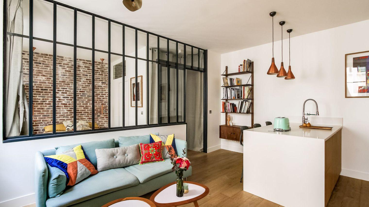 Однокомнатная квартира в современном стиле яркая