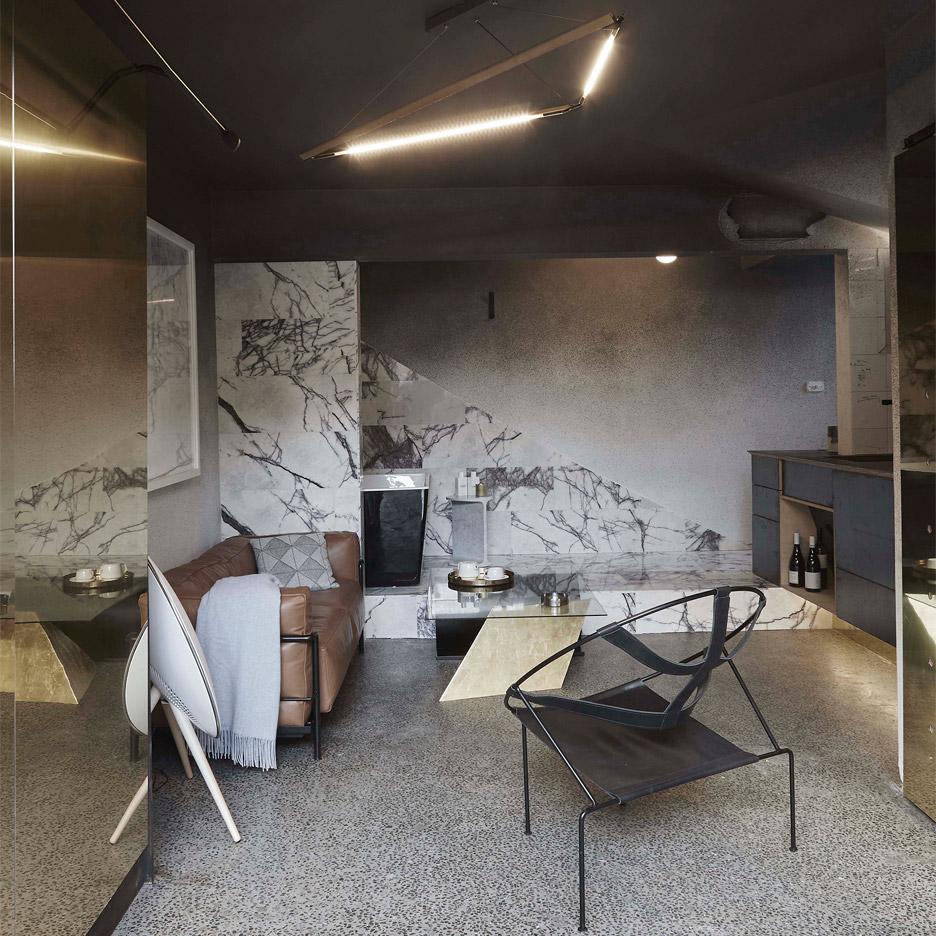 Стили однокомнатных квартир с мрамором