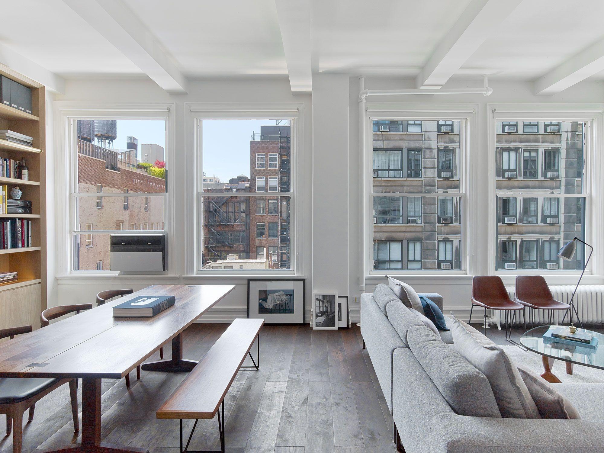 Стили однокомнатных квартир с большими окнами