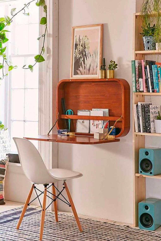 Рабочее место дома с подвесным бюро
