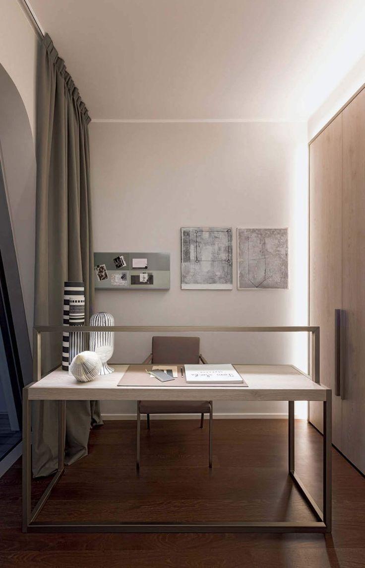 Рабочее место дома в лаконичном дизайне