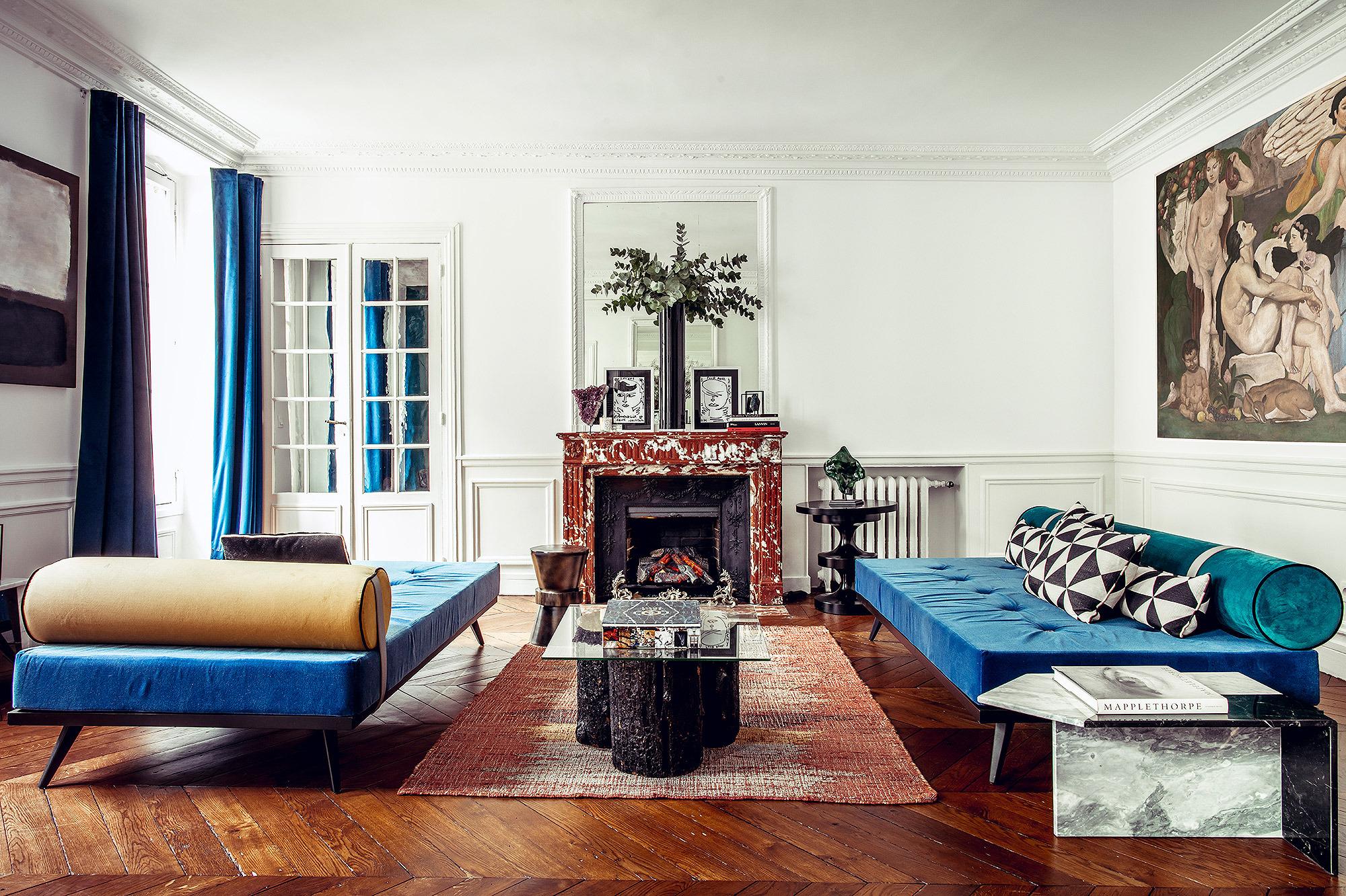 Однокомнатная квартира в стиле прованс с декором