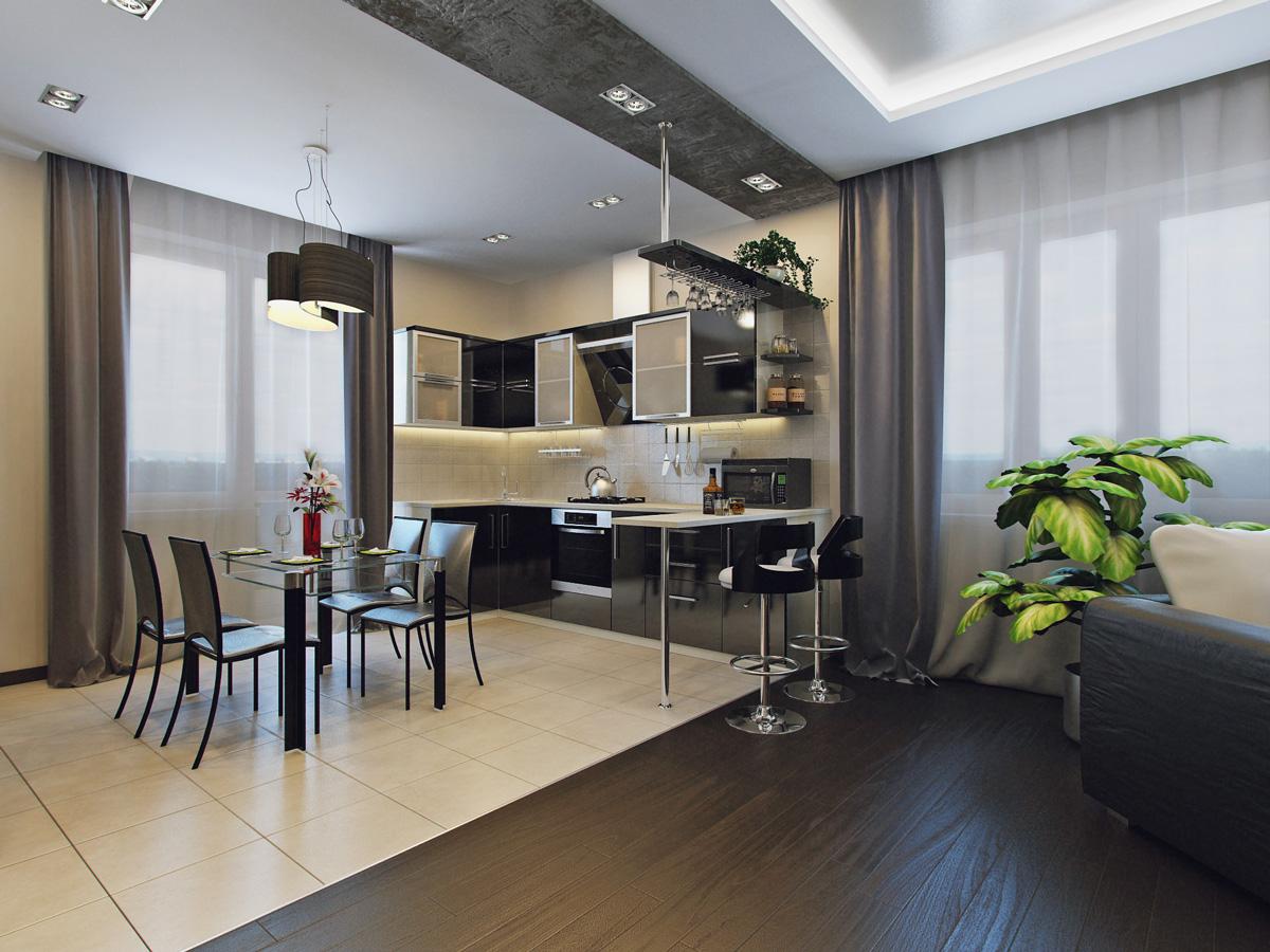 Перепланировка и расстановка мебели на кухни