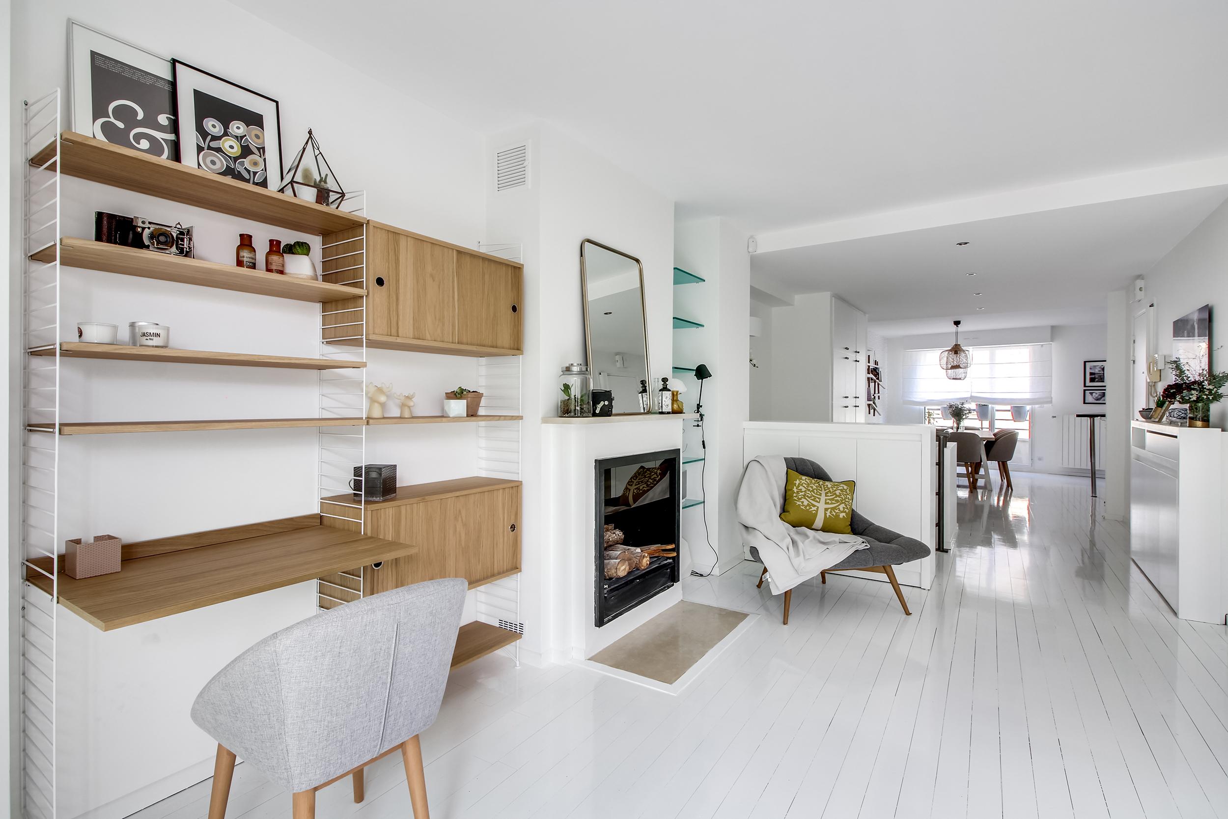 Однокомнатная квартира в скандинавском стиле большая