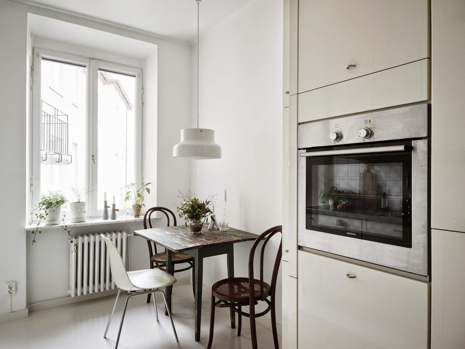 Однокомнатная квартира с кухней в скандинавском стиле