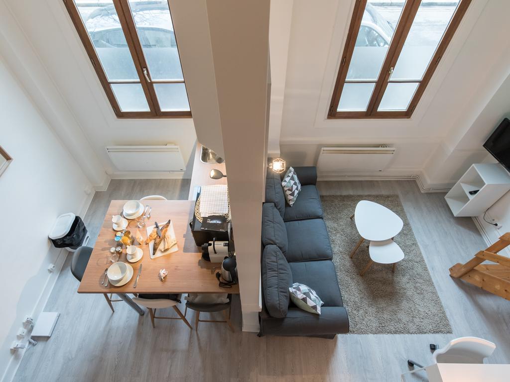 Однокомнатная квартира с перегородкой в скандинавском стиле