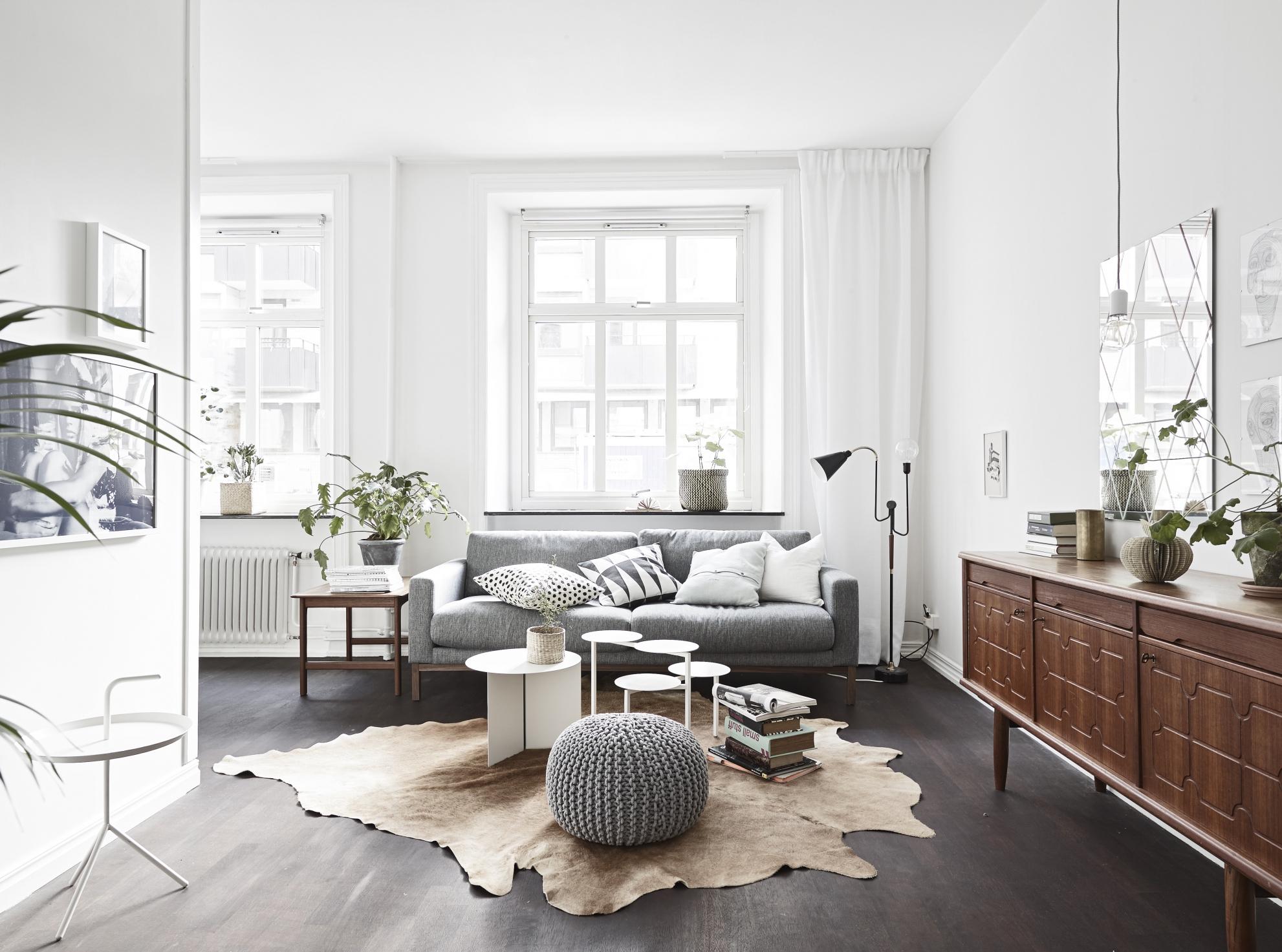 Однокомнатная квартира студия в скандинавском стиле