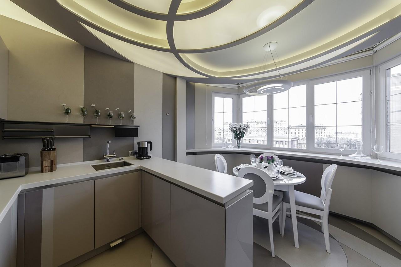 Совмещение кухни и балкона