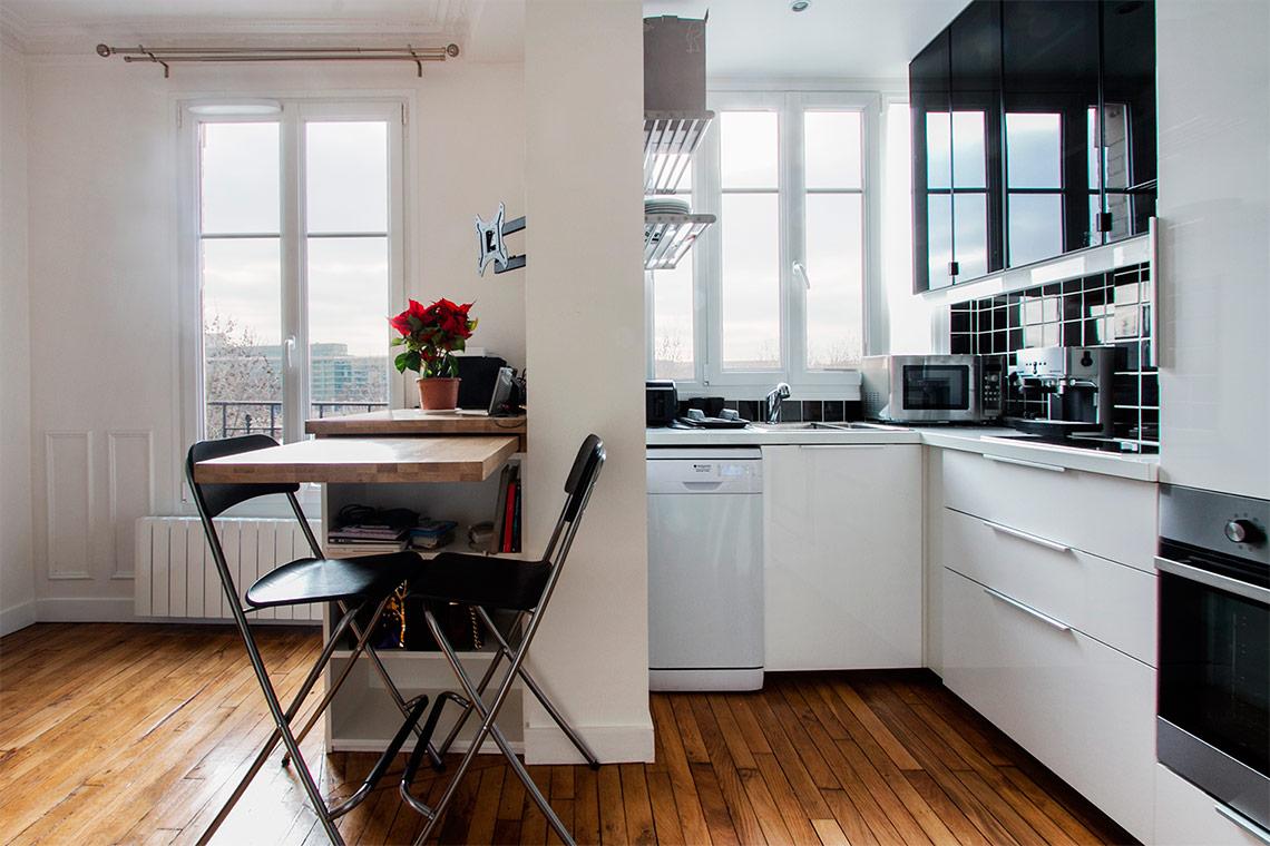 Перепланировка кухни с мебелью трансформером