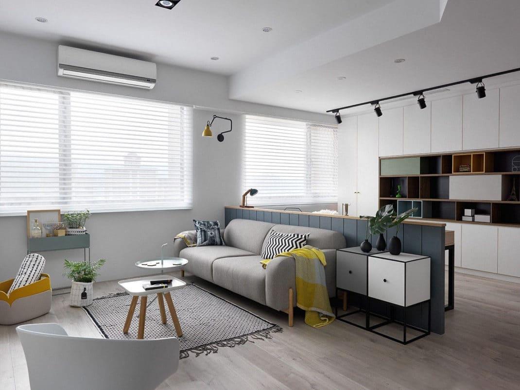 Стили однокомнатных квартир зонирование