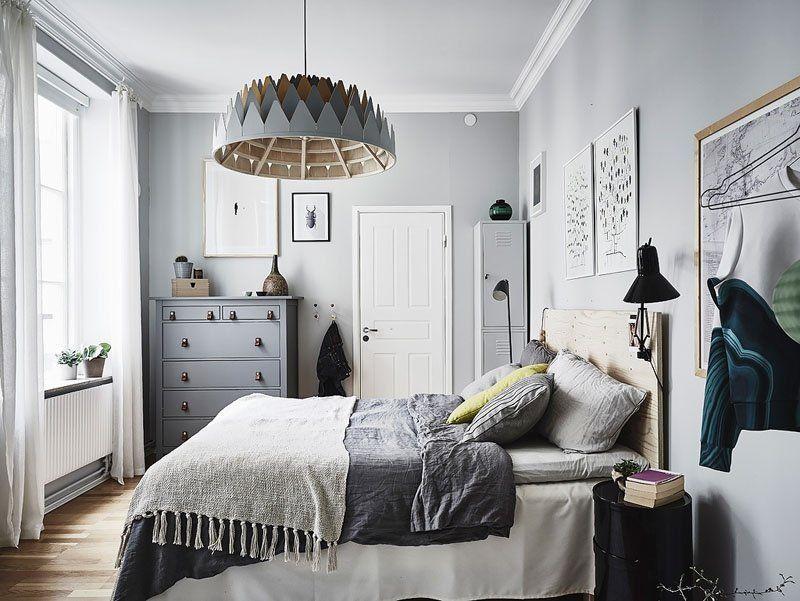 Спальня в скандиновском стиле